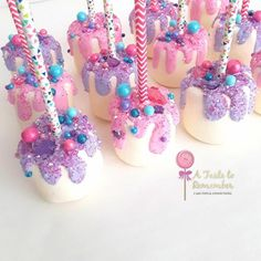 780 Likes, 21 Kommentare - Cake Pops & Confections ( auf Insta . - HH 2018 B-day party - Cake pops rezepte How To Make Marshmallows, Chocolate Covered Marshmallows, Jojo Siwa Birthday, Unicorn Birthday Parties, Candy Land Birthday Party Ideas, Snacks Für Party, Party Treats, Anniversaire Candy Land, Buffet Dessert