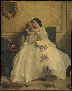 """Mother and Child"", Gustave Léonard de Jonghe, ca. 1861; CAI 1955.704"