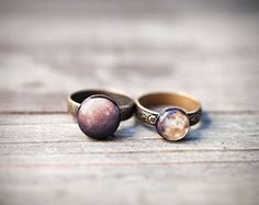 Stackable rings  Rustic jewelry  Mars & Mercury  SET by BeautySpot, $25.50..never have i loved a ring so much in my life