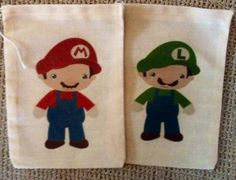 Super Mario Brothers Inspired Favor Bags by SweetLilysConfection, $18.00  www.facebook.com/SweetLilysConfectionary
