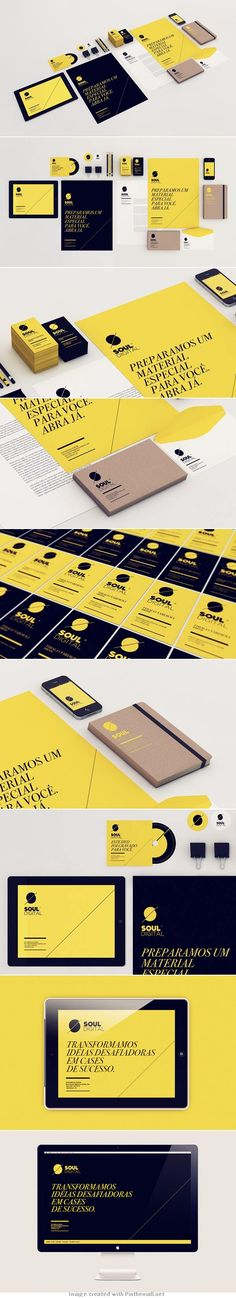 Black and Yellow Brand Identity