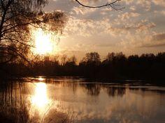 вода, закат, романтика