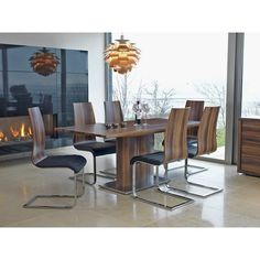 Elora Dining Chair In Black PU And Walnut With Chrome Base_2