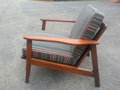 Vintage Mid-Century Teak Danish Modern Armchair in Antiques, Furniture, Chairs, Post-1950   eBay