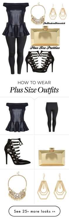 """Plus Size Princess"" by theblushingbeauty on Polyvore featuring H&M, Lulu*s, Sole Society and Kara by Kara Ross"