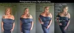 Photographing plus sized models