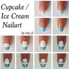 Cupcake/Icecream Nail Art How To