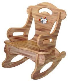 Brown Puzzle Rocker Rocking Chair Solid Wood for Kid, Child, Baby, Boy & Girl - Toy Furniture