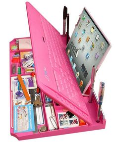 Pink Keyboard Desktop Organizer From The Pink Superstore