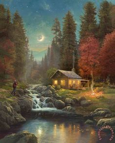 Thomas Kinkade Away From It All painting - Away From It All print for sale