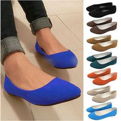 New Women Ballerina Loafers Flat Single Shoes Ballet Slip On Casual Candy  Flats 93b94b1e2953
