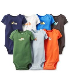 Carter's Baby Boys' 7-Pack Graphic Bodysuits