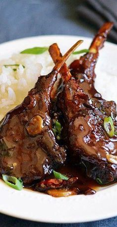 Chinese Spicy, Sweet & Sour Lamb Chops ) ) Yes to food! Super for Chinese style sweet and sour Lamb Chop Recipes, Beef Recipes, Cooking Recipes, Healthy Recipes, Best Lamb Chop Recipe, Recipes Using Lamb, Lamb Shank Recipe, Indian Food Recipes, Street Food