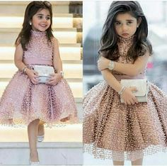 Cheap Flower Girl Dresses, Buy Directly from China Suppliers:Pink 2018 Flower Girl Dresses For Weddings Ball Gown Hig Collar Tulle Pearls First Communion Dresses For Little Girls Cheap Flower Girl Dresses, Dresses Kids Girl, Flower Girls, Girl Outfits, Kids Party Wear Dresses, Party Gowns For Kids, Kids Party Wear Frocks, Little Girl Gowns, Girls Designer Dresses