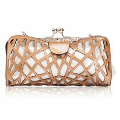 $13.09 Novelty Style Women's Clucth With Openwork and Metal Chain Design