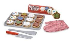 """Melissa & Doug Slice and Bake Cookie Set. I like this during structured sound practice. Cut 12 cookies, put frosting on the 12 cookies...that's 24 word targets (and don't forget multiple repetitions of each word to maximize trials!). Then """"bake"""" and """"eat"""", of course."""
