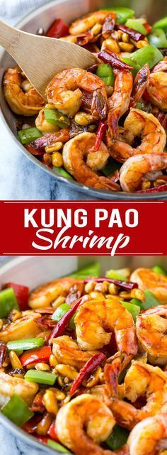 Kung Pao Shrimp Recipe Shrimp Stir Fry Spicy Shrimp Healthy Shrimp Recipe Chinese Food Take Out Vegetarian Chinese Recipes, Authentic Chinese Recipes, Easy Chinese Recipes, Shrimp Recipes Easy, Seafood Recipes, Asian Recipes, Chicken Recipes, Healthy Recipes, Healthy Chinese