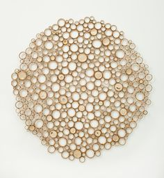 "Artist: Anne Crumpacker  Title: Ensō 2  Medium: bamboo and waxed linen thread  Dimensions: 66"" x 66"" x 3.75"" including mounts  Year: 2011  Estimated Value: $3,000  Courtesy of Anne Crumpacker"