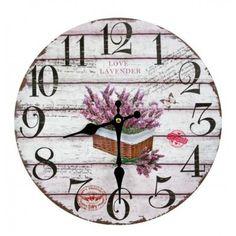 Nástenné hodiny love lavender 30cm Lavender, Clock, Wall, Watch, Clocks, Walls