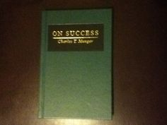 On Success by  Charles T. Munger is going to be, or rather is already a collectible. Warren Buffet respects his thinking. Has anyone already read it?