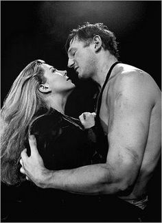 Liam Neeson & Natasha Richardson. Passion cut short. Beautiful couple....