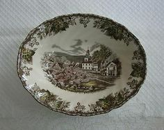 "friendly village by johnson brothers | Vintage Johnson Brothers Friendly Village 9"" Oval Vegetable Bowl ..."