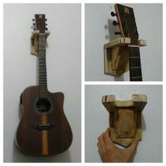 Suporte para violão ou guitarra com madeira de pallet