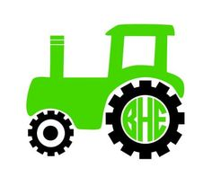 Tractor Monogram instant download cut file for cutting machines - SVG DXF EPS ps Studio3 Studio (monogram font sold separately) by bibberberry on Etsy https://www.etsy.com/listing/240409895/tractor-monogram-instant-download-cut