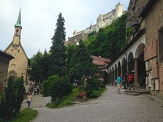 Even the cemetery is scenic in Salzburg, Austria, and earned a place in this great run through the town!
