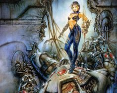 """Zendra and Abathor"" - Luis Royo sci-fi / cyberpunk art Russian Painting, Russian Art, Fantasy World, Dark Fantasy, Fantasy Rpg, Fantasy Artwork, Painting Gallery, Art Gallery, Dark Paintings"