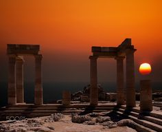 300 B.C. by kennybarker from http://500px.com/photo/214547061 - The Doric Temple of Athena Lindia dating from about 300 BC in Lindos Island of Rhodes Greece. More on dokonow.com.