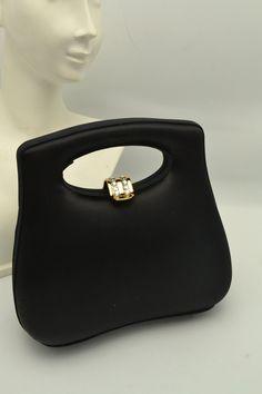 Satin Top, Black Satin, Gifts For Her, Great Gifts, Vintage Purses, Little Bag, Vintage Accessories, Evening Bags, Shoulder Strap
