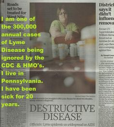 http://lyme300000.wordpress.com/ The ones affected by Lyme Disease