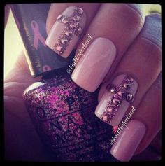 Purple Nails... cute but I might just have to do 1 nail!