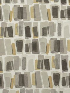 Modern Gray Upholstery Fabric by the Yard - Charcoal Gray Drapery Fabric - Geometric Fabric