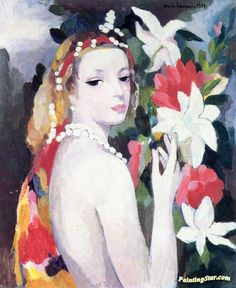 Young Girl with Flowers Artwork by Marie Laurencin Oil Painting & Art ...