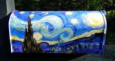 Image result for cool painted mailbox designs