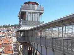 Elevador da Santa.Justa Lisbon - Szukaj w Google Gustave Eiffel, Louvre, Antique, Architecture, Building, Google, Travel, Elevator, Skinny