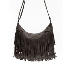 Babetta - Leather Tassel Crossbody Shoulder Bag