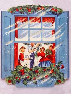 Snowy day Christmas Card Images, Vintage Christmas Images, Christmas Scenes, Retro Christmas, Christmas Love, Vintage Holiday, Christmas Greeting Cards, Christmas Pictures, Christmas Greetings