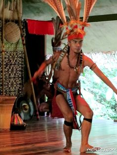Murut Warrior of Sabah. At Mari-Mari Cultural Village.
