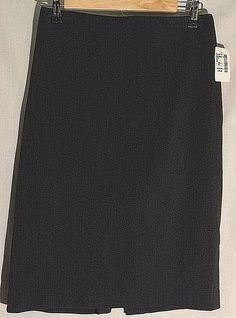New JENNE MAAG Black-Gray (Ink) Wool Blend Straight Skirt - S - Orig Ret $170 #JenneMaag #StraightPencil #jenne #maag #new #gray #black #tag