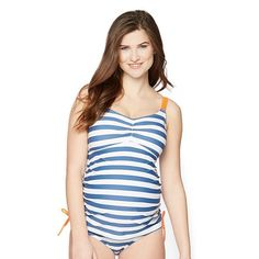 Maternity Oh Baby by Motherhood™ 2-pc. Printed Tankini Swim Set, Women's, Size:
