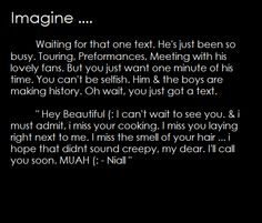 "one direction imagines | Tumblr  ""I hope that didn't sound creepy"" XD <3"