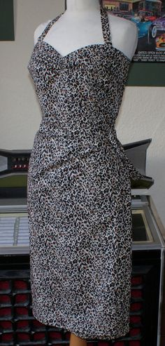 1950s vintage inspired repro leopard bombshell by OuterLimitz, £69.00