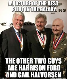 A picture of the best pilot in the galaxy. The other two guys are Harrison Ford and Gail Halvorsen ‪#‎StarWars‬ ‪#‎LDS‬ ‪#‎ShareGoodness‬ Mormon Memes BYU Memes Funny Mormon Memes, Lds Memes, Lds Quotes, Gail Halvorsen, Lds Mormon, Book Of Mormon, Church Memes, Church Humor, Jesus Christ