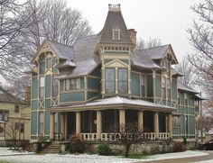 Grand Rapids, MI    Stockwell House  515 Madison SE  Built in 1882 for lumberman A. E. Stockwell  Queen Anne with Eastlake Detailing  #Victorian #House #Queen Anne