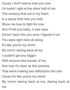 Justin timberlake mirrors with lyrics clean version for Mirror mirror lyrics