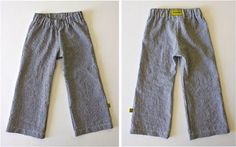 Free Pattern & Tutorial. Basic Kid Pant