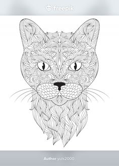 Colouring Pages, Adult Coloring Pages, Mouse Color, Vector Photo, Colour Images, Flyer Design, Illustration, Vector Free, Dog Cat